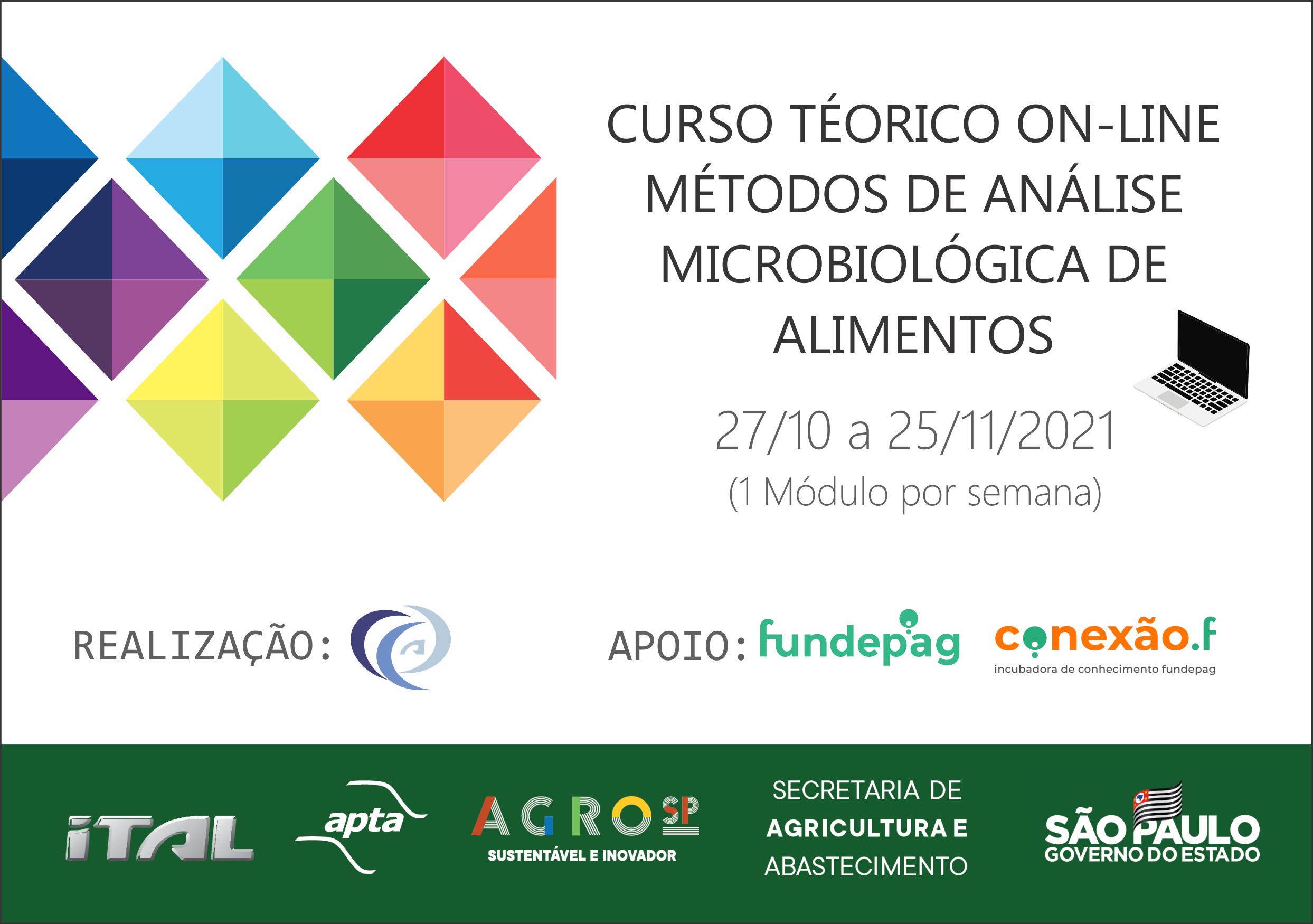 Curso teórico on-line de métodos de análise microbiológica de alimentos: Bacillus cereus; Bolores e Leveduras – módulo 1